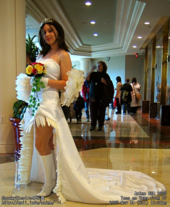 Yunas Wedding Dress In Ffx Cosplay