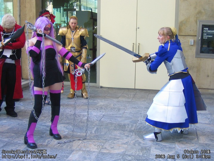 Picture: Fate Stay Night - Rider vs Saber