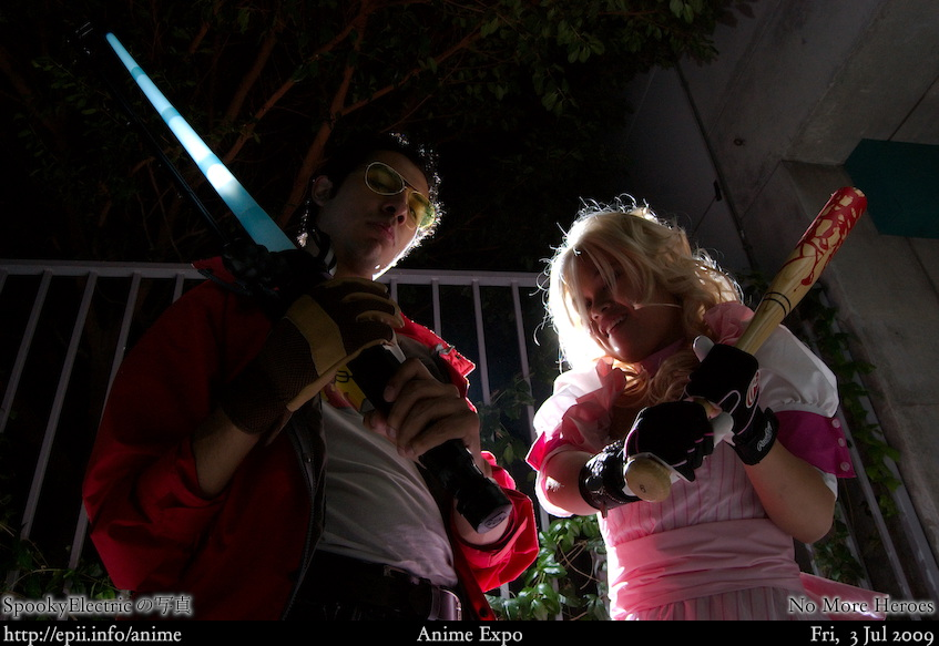 Picture: No More Heroes - Travis and Bad Girl