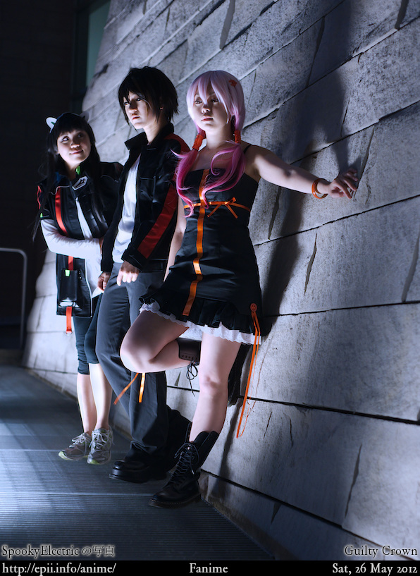 Cosplay  Picture: Guilty Crown - Tsugumi, Shu and Inori 0576