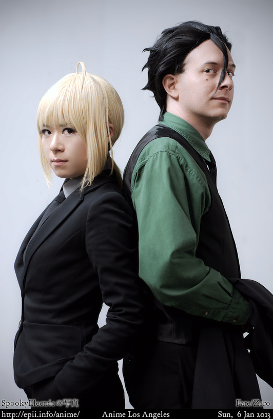 Cosplay  Picture: Fate/Zero - Lancer and Saber 7266