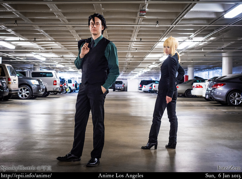 Cosplay  Picture: Fate/Zero - Lancer and Saber 7281