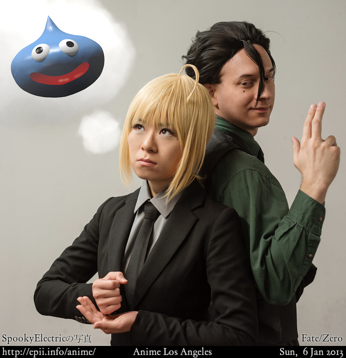 Cosplay  Picture: Fate/Zero - Saber and Lancer 7276